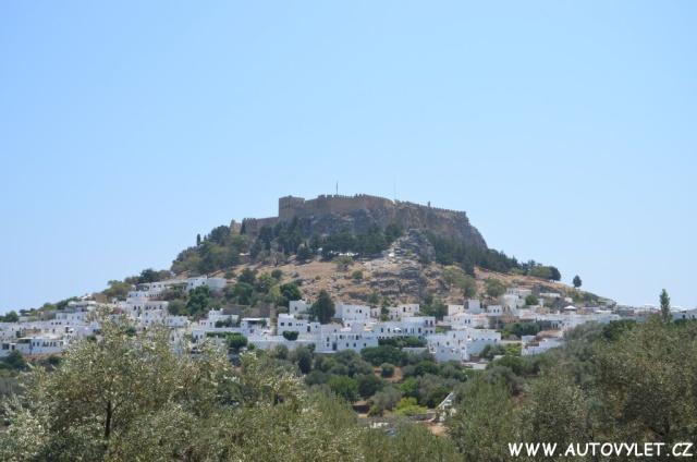 Hrad Lindos Rhodos Řecko