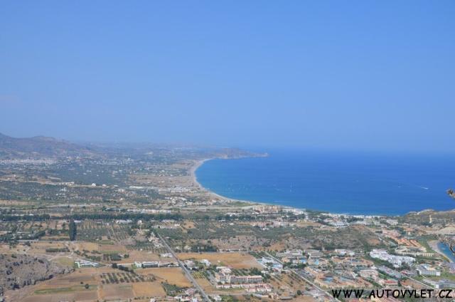 Moni Tsambika výhled - Řecko Rhodos