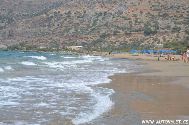 Pláž Paleochora Řecko Kréta