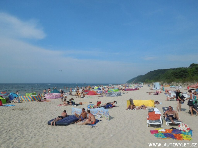 Pláž v Polsku u moře