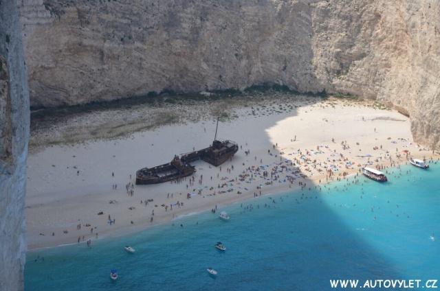 Vyhlídka na vrak lodi na pláži Navagio 21