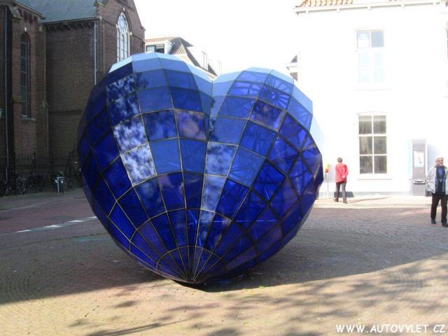 Modré srdce - Delft Holandsko