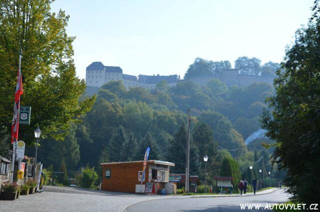 Pevnost Königstein v Saském Švýcarsku v Německu 2