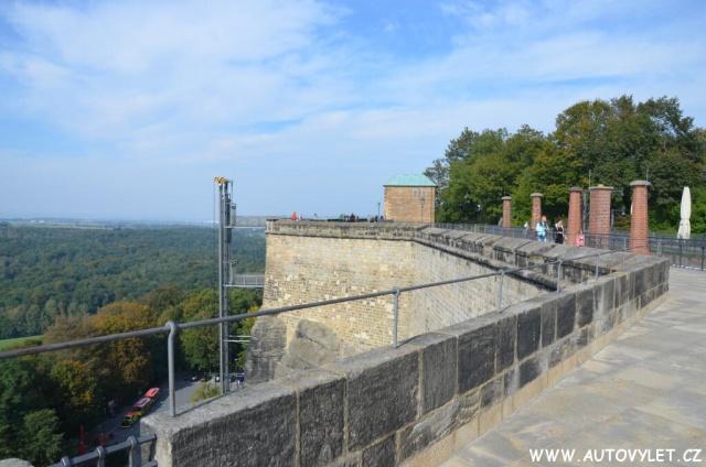 Pevnost Königstein v Saském Švýcarsku v Německu 13