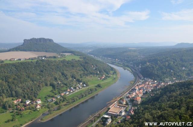 Pevnost Königstein v Saském Švýcarsku v Německu 32