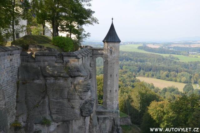 Pevnost Königstein v Saském Švýcarsku v Německu 35