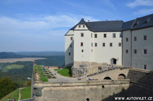 Pevnost Königstein v Saském Švýcarsku v Německu 37