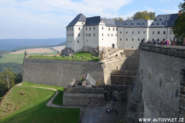 Pevnost Königstein v Saském Švýcarsku v Německu 40