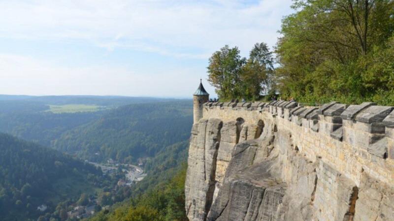 Pevnost Königstein - Saské Švýcarsko - Německo