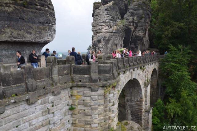 Bastei - skalní most v Německu