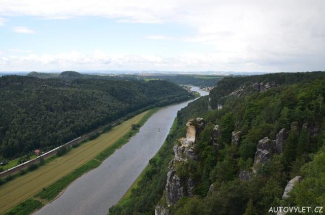 Bastei - skalní most - výhled