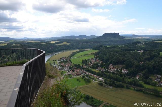 Bastei - skalní most - výhled 2