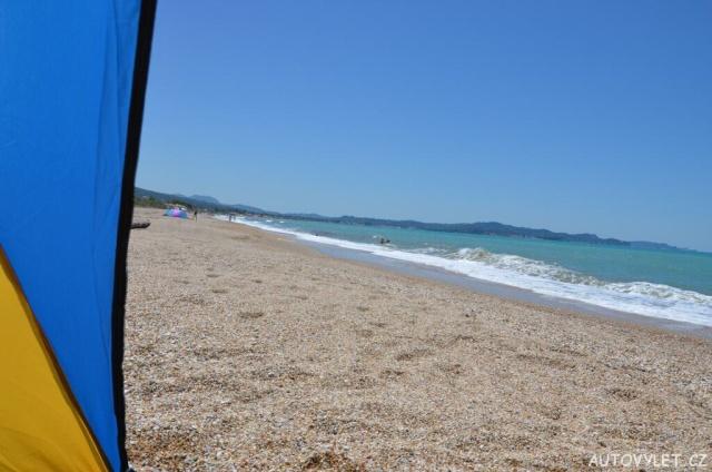 Pláž v Acharavi - Korfu Řecko