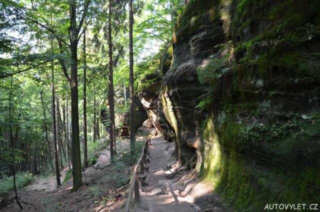 Cesta kolem pískovcových skal k Pravčické bráně