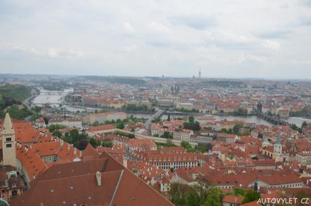 Praha z věže katedrály