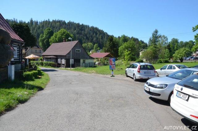 Parkování - Vyhlídka Mariina skála Jetřichovice