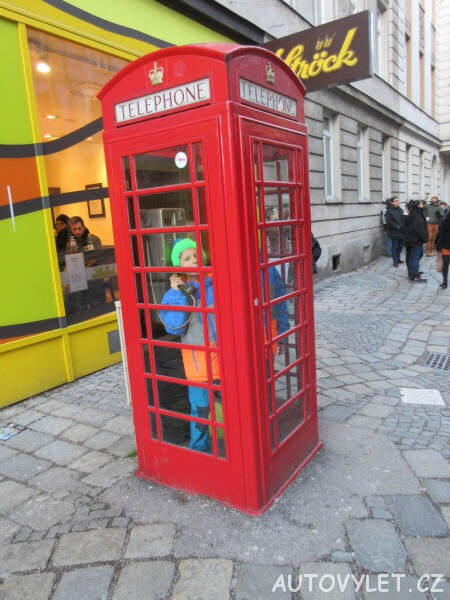 Anglická telefonní budka - Vídeň Rakousko
