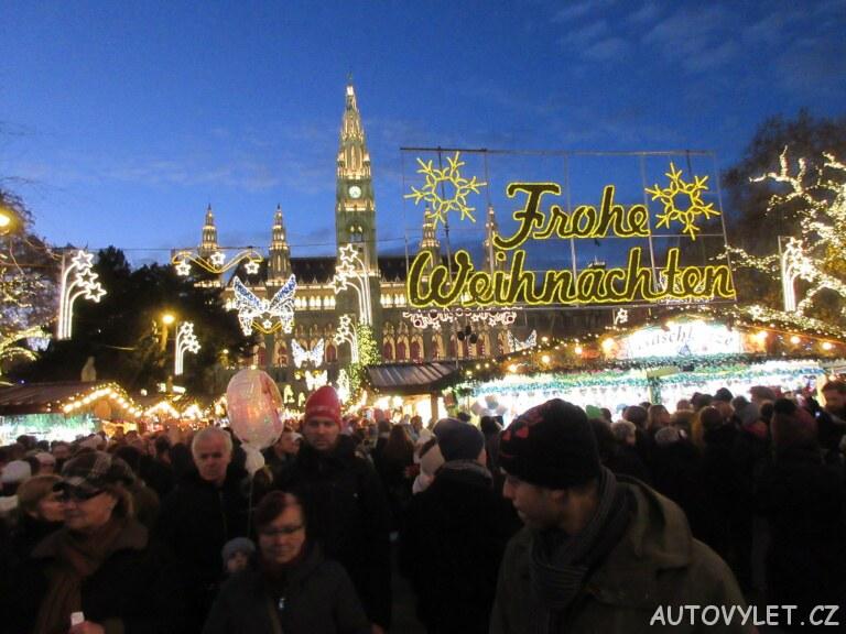 Veselé vánoce - Frohe Weinachten - Vídeň Rakousko