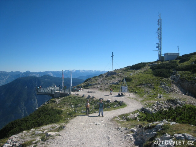 Hallstatt Rakousko - vyhlídka 5 prstů na vrcholu Krippenstein