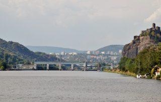 Hrad Střekov a zdymadla v Ústí nad Labem