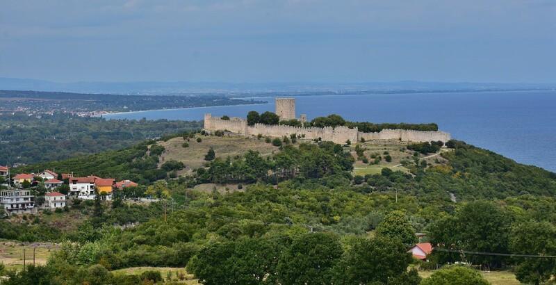 Platamonas hrad Leptokaria Řecko