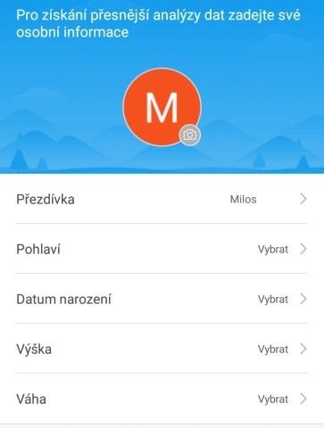Aplikace Mi Fit 06