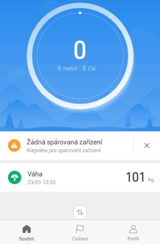 Aplikace Mi Fit 08
