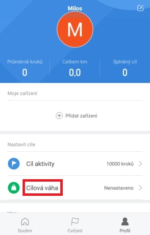 Aplikace Mi Fit 09