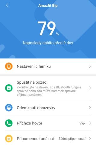 Aplikace Mi Fit 20