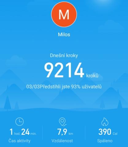 Aplikace Mi Fit 24
