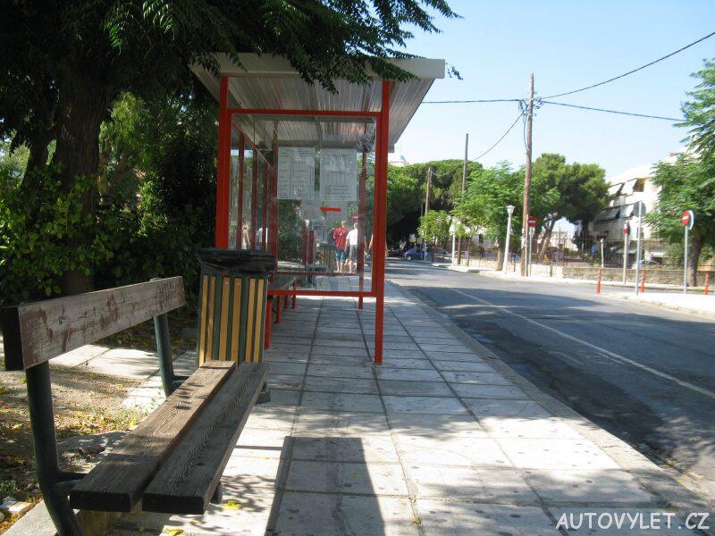 Autobusová zastávka - Kos Řecko