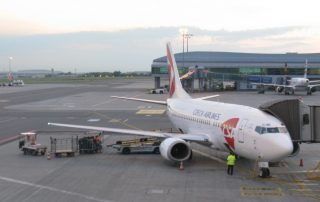 Letadlo ČSA - letiště Václava Havla Praha