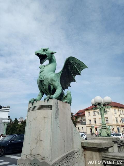Lublaň Slovinsko - drak symbol města