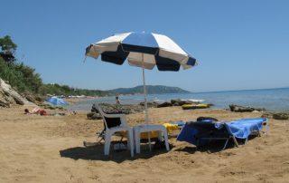 Slunečník na pláži - Řecko Korfu