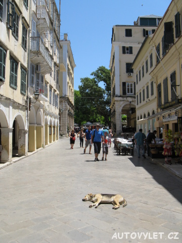 Ulice - Kerkyra Řecko Korfu