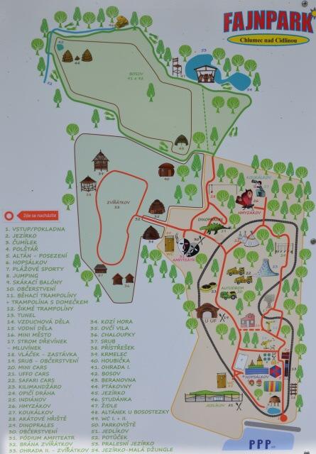 Fajnpark mapa areálu
