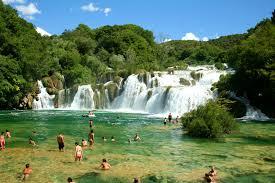 Chorvatsko vodopády Krka