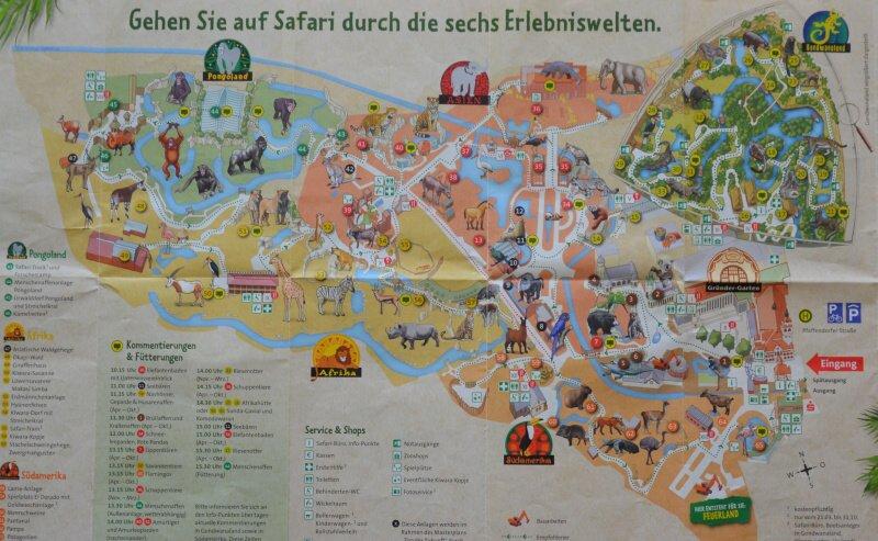 Mapa Zoo Lipsko