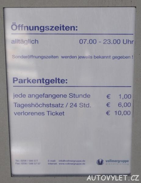 Parkování - ceník - Zoo Lipsko