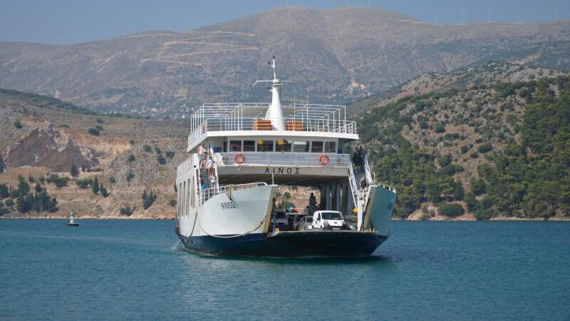 Trajekt Argostoli Lixouri - Kefalonia Řecko