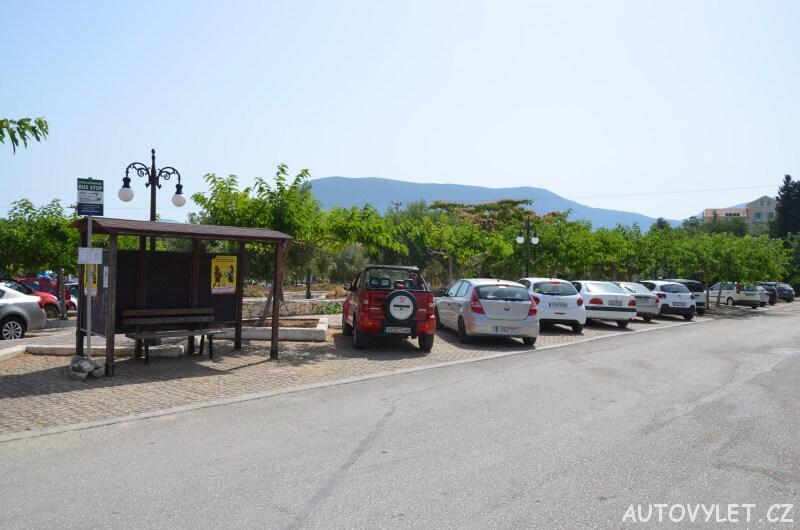 Fiskardo Kefalonia - parkování