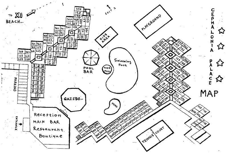 Hotel Cephalonia Palace - kefalonia Řecko - mapa