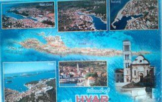 Hvar Chorvatsko - pohlednice