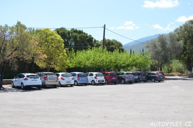 Jeskyně Drogarati Kefalonie - parkování