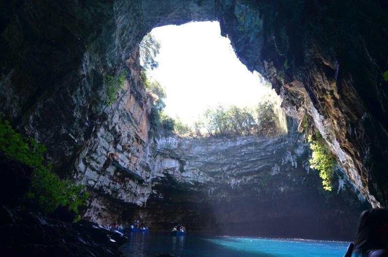 Jeskyně Melissani Kefalonie Řecko