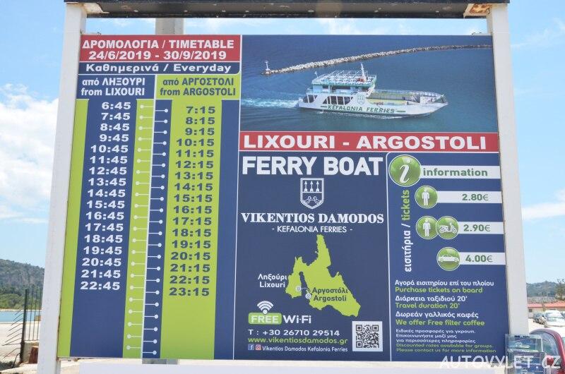 Lixouri - Argostoli trajekt