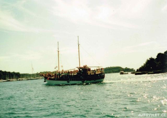 Rovinj Chorvatsko loď