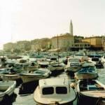 Rovinj Chorvatsko lodičky