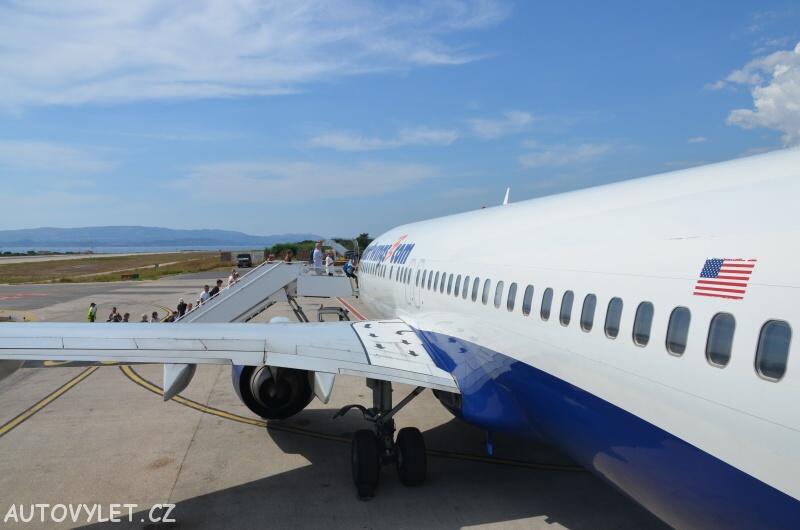Smart Wings letadlo na Kefalonii v Řecku