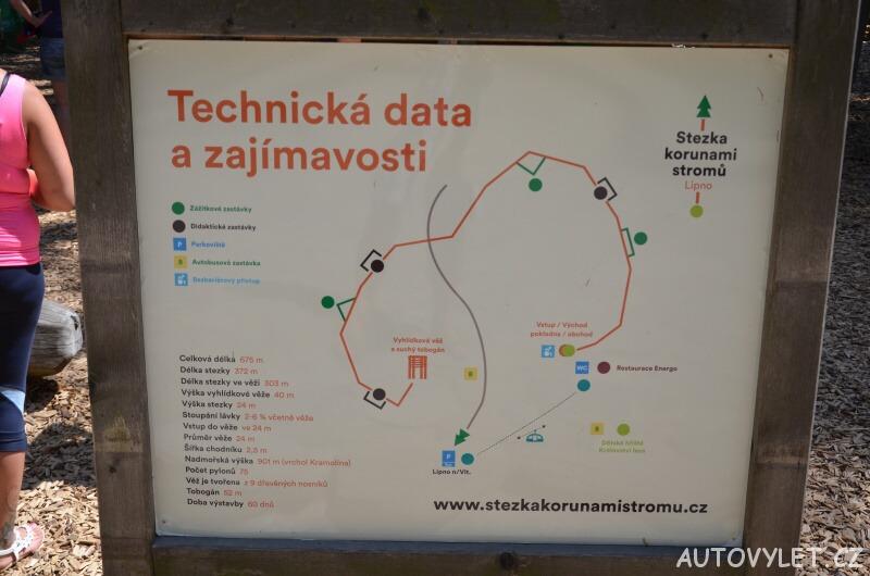 Technické zajímavosti a data - Stezka korunami stromů - Lipno nad Vltavou